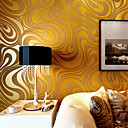 cheap Wallpaper-Contemporary Wallpaper Art Deco 3D Sprinkling Gold Abstraction Wallpaper Wall Covering Non-woven Fabric Wall Art