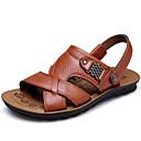 ieftine Sandale Bărbați-Bărbați Pantofi Piele Primăvară Vară Toamnă Confortabili Sandale Pantofi Upstream pentru Casual Birou și carieră În aer liber Maro Deschis