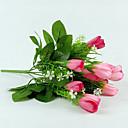 tanie Sztuczny kwiat-1 Gałąź Jedwab Tulipany Sztuczne Kwiaty 33
