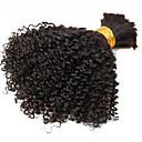 billige 3D-puslespill-1 pakke Brasiliansk hår Kinky Curly / Krøllete Weave Ubehandlet hår Menneskehår Vevet 10-26 tommers Hårvever med menneskehår Hot Salg Hairextensions med menneskehår / Kinky Krøllet