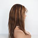 olcso LED kukorica alakú izzók-Emberi haj Csipke Paróka Egyenes Ombre Paróka 130% Ombre haj / Természetes hajszálvonal / Afro-amerikai paróka Ombre Női Rövid / Közepes Emberi hajból készült parókák / 100% kézi csomózású