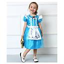 halpa Lasten asut-Prinsessa Cinderella Cosplay-Asut Juhla-asu Lasten Halloween Karnevaali Lasten päivä Festivaali / loma Polyesteri Puuvilla Karnevaalipuvut Patchwork Pitsi