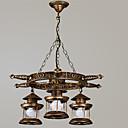abordables Lámparas de Noche-Rústico/Campestre Vintage Retro Campestre Esfera Lámparas Araña Para Sala de estar Dormitorio Comedor AC 100-240V Bombilla no incluida