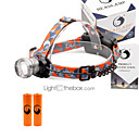 cheap Flashlights & Camping Lanterns-U'King Headlamps Headlight 2000 lm 3 Mode LED with Batteries Zoomable Adjustable Focus Compact Size Easy Carrying High Power Multifunction