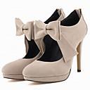 preiswerte Damen Heels-Damen Schuhe Stoff Frühling / Herbst High Heels Stöckelabsatz Runde Zehe Schleife / Reißverschluss Grün / Blau / Mandelfarben / Hochzeit