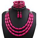abordables Llaveros-Productos Personalizados-Mujer Conjunto de joyas - Euramerican Incluir Rosa Rojo / Verde / Azul Para Boda / Fiesta / Ocasión especial