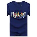 billige Bursdagdekor-Bomull Rund hals Store størrelser T-skjorte Herre - Grafisk, Trykt mønster Fritid Sport / Kortermet