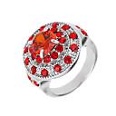 abordables Anillos-Mujer Logo Anillo de banda - Zirconio, Zirconia Cúbica, Diamante Sintético Flor Lujo, Diseño Único, Punk 6 / 7 / 8 Rojo Para Boda / Fiesta / Legierung