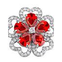 זול סיכות אופנתיות-בגדי ריקוד נשים תפס לשיער - זירקון פרח מותאם אישית, עיצוב מיוחד, Euramerican סִכָּה לבן / אדום / קשת עבור Party / יומי / קזו'אל