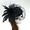 cheap Party Headpieces-Feather / Net Fascinators / Flowers / Hats with Floral 1pc Wedding / Special Occasion Headpiece