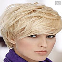 cheap Synthetic Capless Wigs-Human Hair Straight Classic High Quality Machine Made Wig Daily