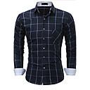 voordelige Autoreinigingshulpmiddelen-Heren Overhemd Katoen Kleurenblok