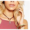 preiswerte Modische Armbänder-Damen Halsketten - Blattform, Feder Anhänger Stil Weiß, Schwarz, Braun Modische Halsketten Für Party, Verlobung, Alltag