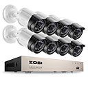 billige LED Strip Lamper-zosi® 8ch e-postvarsling overvåkningssett 1080p hd-tvi dvr 8pcs 2.0mp ir nattesyn kamera video cctv system