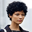 cheap RC Parts & Accessories-Synthetic Wig Women's Curly Black Synthetic Hair Black Wig Short Capless Dark Black MAYSU