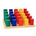 billige Sykkelundertøy og basisplagg-Montessori læringsleker Byggeklosser Pedagogisk leke Sylinder-formet Utdanning Klassisk Gutt Leketøy Gave