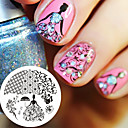 cheap Nail Stamping-1 pcs Stamping Plate Template nail art Manicure Pedicure Fashion Daily / Steel