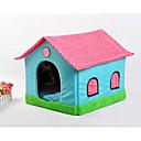 abordables Básicos de Viaje para Perros-Gato Perro Camas Mascotas Cestas Retazos Caricatura Suave Tienda Beige Azul Rosa