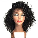 cheap Human Hair Wigs-Full Lace Wig Brazilian Hair Wig 120% / 130% Natural Hairline / African American Wig Women's Short Human Hair Lace Wig / Curly