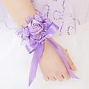 baratos Bouquets de Noiva-Bouquets de Noiva Buquês Buquê de Pulso Outros Flor Artificial Casamento Festa / Noite Material Renda Cetim 0-20cm