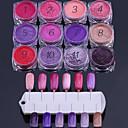 baratos Kits & Conjuntos para Unhas-12 Glitter & Poudre Clássico Nail Art Design Nail Glitter Diário Clássico Espumante Alta qualidade