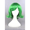 abordables Pelucas Cosplay-Pelucas sintéticas / Pelucas de Broma Recto Verde Verde Pelo sintético Mujer Verde Peluca Corta Sin Tapa