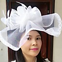 cheap Party Headpieces-Feather / Net Fascinators / Hats / Birdcage Veils with 1 Wedding / Special Occasion / Casual Headpiece
