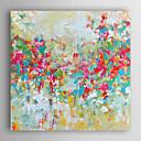 abordables Cuadros de Animales-Pintada a mano Abstracto Cuadrado, Modern Lona Pintura al óleo pintada a colgar Decoración hogareña Un Panel