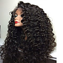 cheap Human Hair Wigs-Human Hair Full Lace / Glueless Full Lace Wig Brazilian Hair Curly / Kinky Curly With Baby Hair 180% Density Natural Hairline / African American Wig / 100% Hand Tied Women's Short / Medium Length