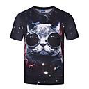voordelige Modieuze armbanden-Heren Punk & Gothic Boho Print T-shirt, Feest Sport Club Dierenprint Ronde hals