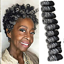 cheap Hair Braids-Hair Braids curlkalon synthetic ombre braiding hair Pre-loop curlkalon braids 10inch saniya curls crochet braids kanekalon small bouncy curly 20 roots/pack 5packs make head