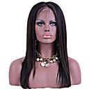 preiswerte Kostümperücke-Remi-Haar Spitzenfront Perücke Glatt 130% Dichte 100 % von Hand geknüpft Afro-amerikanische Perücke Natürlicher Haaransatz Gefärbte