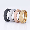 cheap Men's Rings-Women's Couple Rings - Stainless Steel, Gold Plated Basic 6 / 7 / 8 / 9 Black / Silver / Champagne For Wedding Party Special Occasion