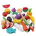 tanie Kuchnia i sztuczne jedzenie-lowood Zestawy kuchenne zabawkami Jedzenie do zabawy Warzywo Magnetyczne Plastik Dla dzieci Dla chłopców Dla dziewczynek Zabawki Prezent 21 pcs