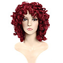 cheap Dance Accessories-Synthetic Wig Curly / Loose Wave Synthetic Hair Red Wig Capless Red