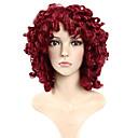 Χαμηλού Κόστους Ψεύτικες Βλεφαρίδες-Συνθετικές Περούκες Σγουρά / Χαλαρό Κυματιστό Κόκκινο Συνθετικά μαλλιά Κόκκινο Περούκα Χωρίς κάλυμμα Κόκκινο