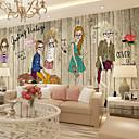baratos Impressões-Art Deco 3D Decoração para casa Moderna Revestimento de paredes, Tela de pintura Material adesivo necessário Mural, Cobertura para