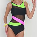preiswerte Ringe-Damen Gurt Grün Rote Bügel Cheeky-Bikinihose Einteiler Bademode - Gestreift / Einfarbig Grundlegend M L XL