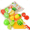baratos Acessórios de Cozinha & Comida de Brinquedo-Conjuntos Toy Cozinha Comida de Brinquedo Acessórios de Cozinha & Comida de Brinquedo Brinquedos Circular Vegetais Plástico Para Meninas