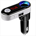 cheap Car Charger-Wireless Bluetooth HandsFree Car Kit Car Mp3 Player FM Transmitter Dual USB FM Modulator A2DP USB Charger for iPhone