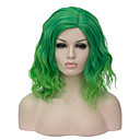 cheap Synthetic Capless Wigs-Synthetic Wig Ombre Synthetic Hair Ombre Wig Women's Short Capless Green