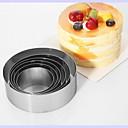 halpa Kakkumuotit-6kpl Ruostumaton teräs DIY Kakku Pyöreä paistopinnan Bakeware-työkalut