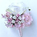"""baratos Bouquets de Noiva-Bouquets de Noiva Alfinetes de Lapela Casamento / Festa / Noite Cetim 9.84""""(Aprox.25cm)"""