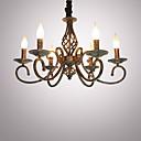preiswerte Kronleuchter-6-Licht Kerzen-Stil Kronleuchter Raumbeleuchtung - Candle-Art, 110-120V / 220-240V Glühbirne nicht inklusive / 10-15㎡ / E12 / E14