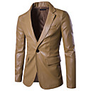 hesapli Erkek Kol Düğmeleri-Erkek Gömlek Yaka Solid Sokak Şıklığı Ceketler