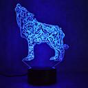 preiswerte Wand-Sticker-1 Stück 3D Nachtlicht Mehrfarbig USB Sensor Abblendbar Wasserfest Farbwechsel