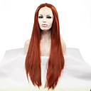 cheap Synthetic Lace Wigs-Synthetic Lace Front Wig Straight Synthetic Hair Heat Resistant / Natural Hairline Red Wig Women's Lace Front Auburn