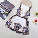 tanie Sukienki dla dziewczynek-Dzieci Dla dziewczynek Kwiatowy / Kreskówka Plaża Kwiaty / Patchwork Bez rękawów Sukienka / Bawełna