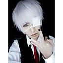 hesapli Anime Cosplay Peruklar-Cosplay Perukları / Maske Tokyo Gulyabani Ken Kaneki Anime Cosplay Perukları 66.04 cm CM Erkek Cadılar Bayramı Kostümleri