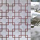 رخيصةأون ملصقات الحائط و النوافذ-هندسي رجعي ملصق النافذة, PVC/Vinyl مادة نافذة الديكور غرفة الطعام غرفة النوم المكتب غرفة الأطفال غرفة المعيشة غرفة حمام شوب / مقهى المطبخ